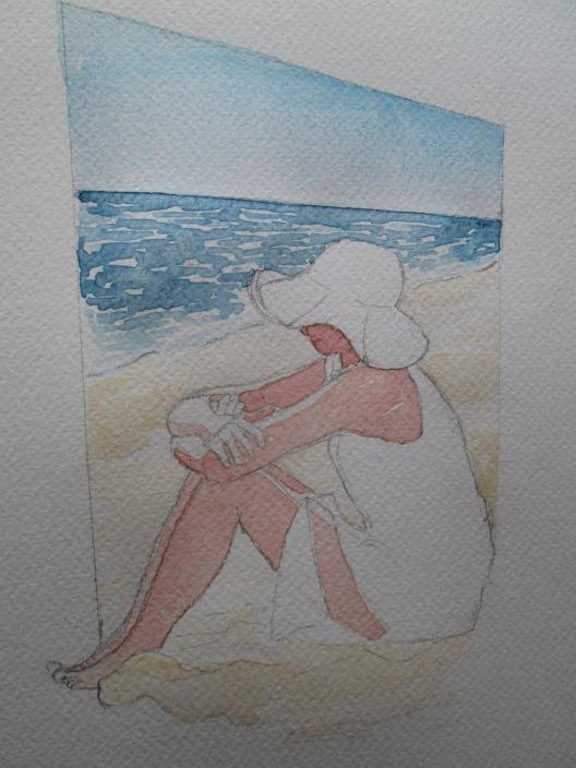 donna in spiaggia 4