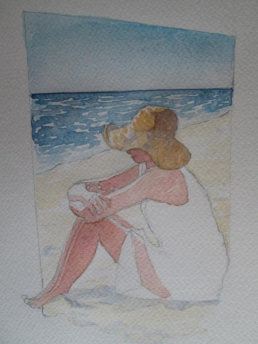donna in spiaggia 5